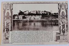 VTG Postcard Chinon Le Chateau France Used Mailed 1926 France Theobald Cancelled