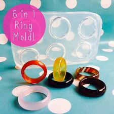 SILICONE RING MOLD - Multiple Stacking Faceted Resin Jewellery Making Mould