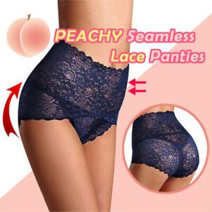Women Seamless Lace Panties Breathable High Waist Butt Lift Briefs Underwear AU