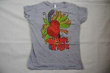 YOU ME AT SIX FLOWER LADIES SKINNY T SHIRT XL NEW OFFICIAL HOLD ME DOWN