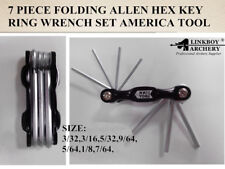 Linkboy 7 PIECE FOLDING ALLEN HEX KEY RING WRENCH SET AMERICA TOOL 1pcs/lot