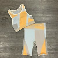 Nike Dri Fit Icon Clash Size M / L Seamless Support Stretch Top Shorts Set *READ