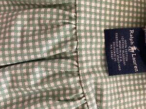 Ralph Lauren Green Gingham Full Sheet Set. 4 Pieces. 100% Cotton. New w/o tags.