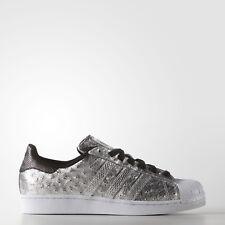 NUEVO Hombre Adidas Superstar Zapatos color plata Talla:9.5