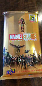 2018 SDCC COMIC CON UPPER DECK MARVEL STUDIOS FIRST TEN YEARS 18 CARD SET /500
