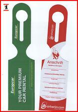 ✈ 1 AIRBERLIN ❤️ baggage tag Kofferanhänger EUROPCAR airline aviation airways