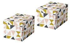 Set of 2 - Ikea TJENA Storage Box w/Lid Home Decor 7