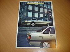 CATALOGUE Renault 21 de 1988 édition août 87