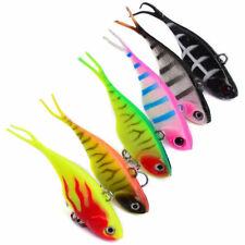 Soft Plastic Vibe Fishing Lures 7cm Bream 6 Vibes Whiting Bass Transam Like Lure
