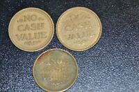 THREE EAGLE NO CASH VALUE TOKENS!   CC338XXX