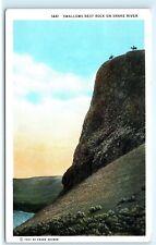 *Swallows Nest Rock Snake River Blasting Irrigation Ditch Idaho Postcard A18