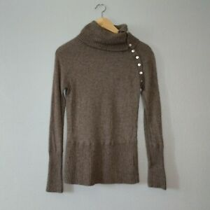 Seraphine Maternity Womens 4 Brown Wool Cashmere Blend Turtle Neck Sweater Soft