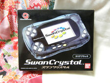 """Wonder Swan Color Swan Crystal Clear Black"" JP Ver Box & Manual Mint Condition!"