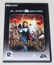 DER HERR DER RINGE - DIE RÜCKKEHR DES KÖNIGS - PC DVD SPIEL - LORD OF THE RINGS