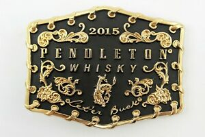 Belt Buckle: 2015 Pendleton Whiskey Rodeo Bucking Bronco by Montana Silversmiths