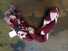 Gap dip-dyed raspberry/plum crinkle scarf