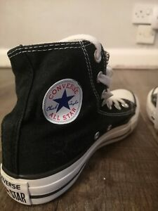 Converse Chuck Taylor All Star Black High Tops Trainers Sz UK 3