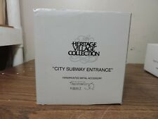 Dept. 56 City Subway Entrance Metal Green/Gold Trim 55417.New In Box