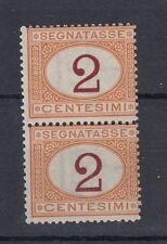 1870-71 SEGNATASSE COPPIA 2 CENTESIMI G.I MNH** FRESCHI