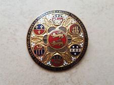Broche médaille honneur militariat en émail EN AVANT LA NORMANDIE Enameled medal