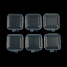 6Pcs Mini Clear Plastic Small Box fishhook Jewelry Earplugs Storage Container JB