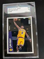 1996 Collector's Choice Kobe Bryant Lakers Team Set Rookie RC #LA2 SGC 7 NM/Mint