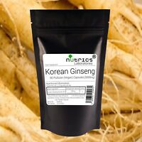 Nutrics® KOREAN GINSENG 5000mg Vegan Capsules 80% Ginsensides PANAX not tablets