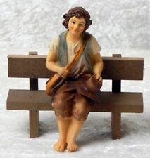 Poly Figur 11 cm Hirte sitzend