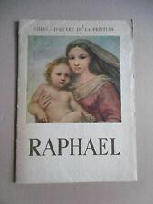 RAPHAËL Chef d'œuvre de la peinture 10 Planches 1955 / Livre Peintre French Book