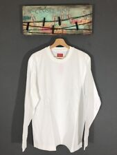 """Supreme Men's Overdyed Long Sleeve Top Shirt Pullover WHT Sz L NWT """"SOLD OUT"""""""