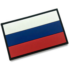 The Russian Federation FLAG Russia RUS FLAG 3D PVC PATCHES RUBBER HOOK PATCH #01