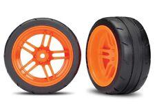 "Traxxas 4-Tec 2.0 1.9"" Response X-Tra Wide Rear Pre-Assembled Tires (Orange) (2)"