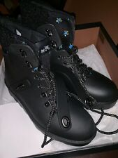 COACH Urban Hiker Boots Lace Up Rubber Black With Faux Fur Size 8B