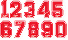 Vinyl 80's Football Shirt Soccer Numbers Heat Print Football Bukta Style Sevilla