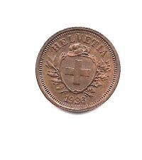 1936 B Switzerland One Rappen- Red/Brown Beauty !!