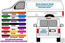 STANDARD BASIC VAN LETTERING DECALS - FREE SHIPPING