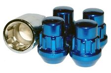 Capped Locking Wheel Nuts STEEL - BLUE - M12 x 1.5 Toyota Mitsubishi Ford Honda