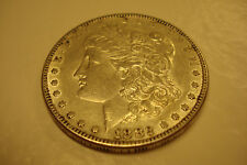 *2, USA VINTAGE COLLECTBLES,1882-P  AU, SILVER MORGAN $ AND 1875 IHC  (ID#PM-1)