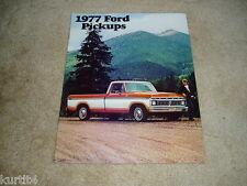 1977 Ford pickup truck F-100 F-150 F-250 F-350 sales brochure dealer literature