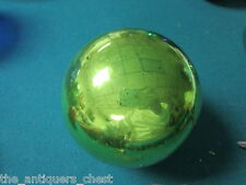 """Kugel Germany Antique Genuine Christmas ornament hand blown glass lime green 4"""""""