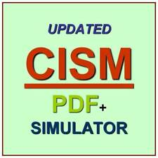 ISACA Certified Information Security Manager CISM Practice Exam Test QA PDF+SIM