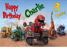 PERSONALISED DINOTRUX TY A4 TRIFOLD BIRTHDAY CARD ANY NAMEage GREETINGS OCCASION