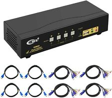 CKL HDMI KVM Switch 4 Port Dual Monitor Extended Display (CKL-942HUA)