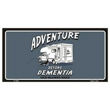 USA Novelty Number Plate - Adventure Before Dementia Wall Art Sign Home Decor Gi