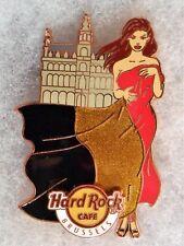 HARD ROCK CAFE BRUSSELS LANDMARK & FLAG SEXY GIRL SERIES PIN # 86786