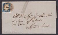 Regno di Sardegna 20c indaco su lettera 1862 da San Martino D'Albaro  cv 1120€