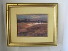 Orig Mel Brigg South African ARTIST Oil Painting 20x16 Landscape figures framed