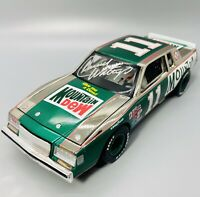 Autographed Darrell Waltrip #11 Mountain Dew 1981 Buick Chrome NASCAR 1:24