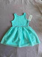 Cat & Jack - Girls Toddler Tulle Sleeveless Dress Aqua Blue - Size 2T