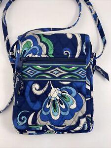 Vera Bradley Mini Hipster Mediterranean Blue Shoulder Bag Crossbody Purse NNT